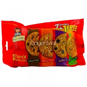 Quaker Oat Cookies 4 Flavor Selection 216g